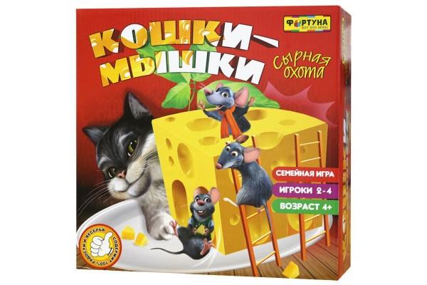 Настольная игра Кошки-мышки. Сырная охота