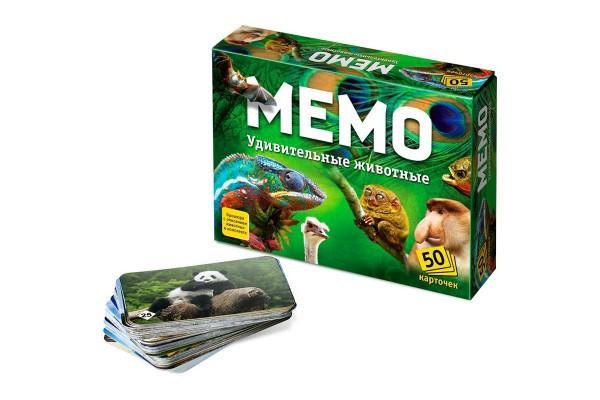 Настольная игра Мемо. Удивительные животные