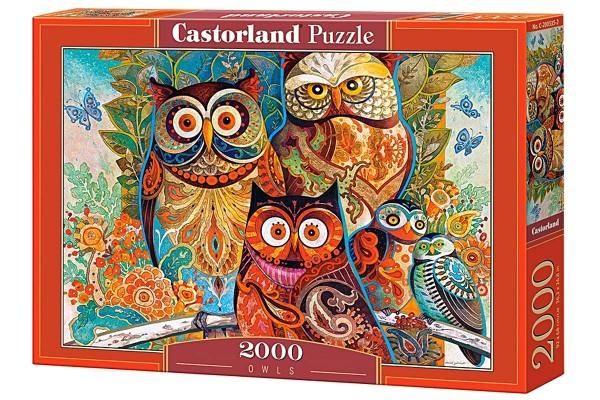Пазл Castorland Совы, 2000 деталей