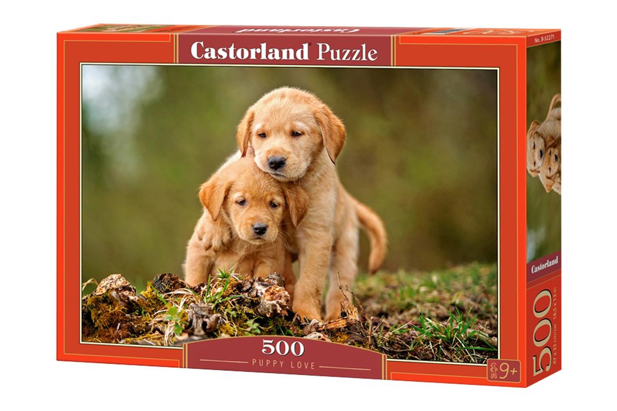 Пазл Castorland Щенячья любовь Puzzle-500 B-52271