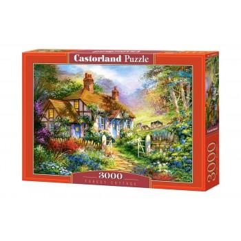 Пазл Castorland Коттедж в лесу, 3000 деталей