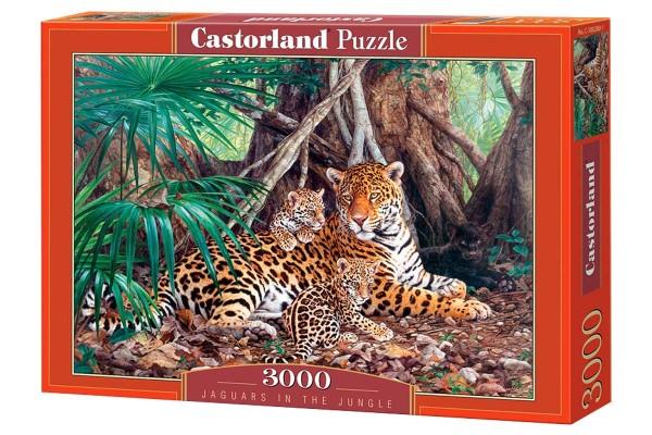 Пазл Castorland Ягуары в джунглях, 3000 деталей