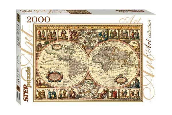 Степ Пазл Историческая карта мира, 2000 деталей