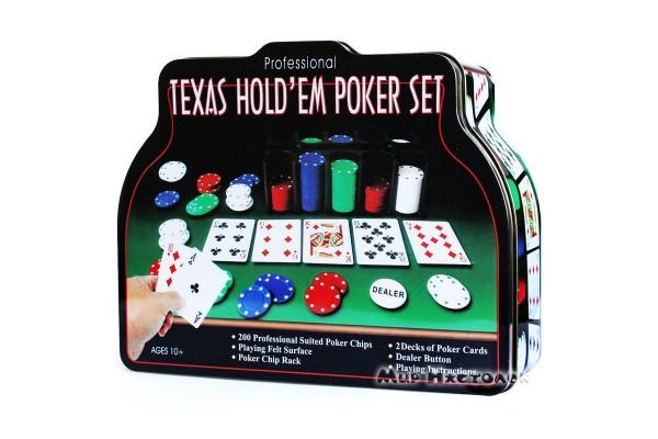 Набор для покера Texas Holdem Poker Set (200 фишек)