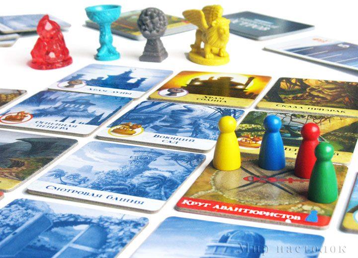 Настольная игра Запретный остров — фишки игроков и артефакты